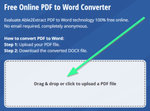 Easy steps to convert PDF to word online