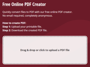 How to create Online PDF file