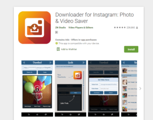 You download and install Easy Downloader